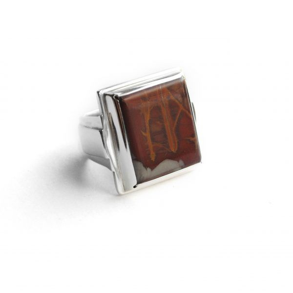 Picture Jasper Handmade Sterling Silver Ring made in Adelaide Australia by Glacier Jewellery Design