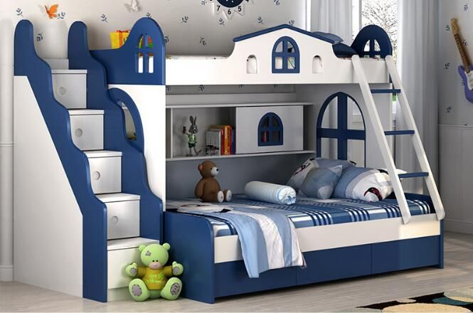 Children bunk beds children bunk bed with guardrail environmental protection bed boys