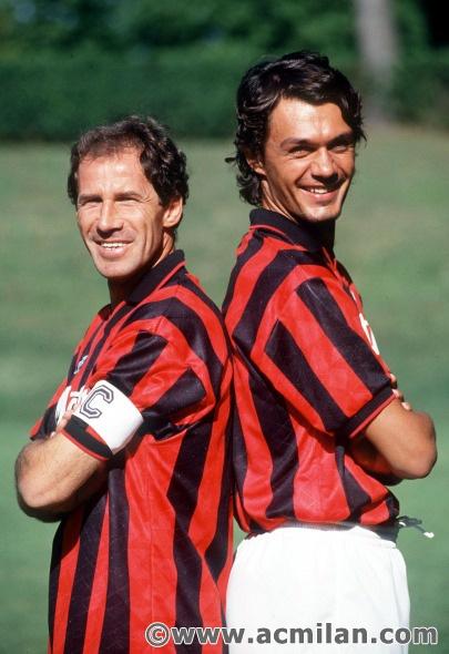 Franco Baresi e Paolo Maldini  Bandiere Rossonere
