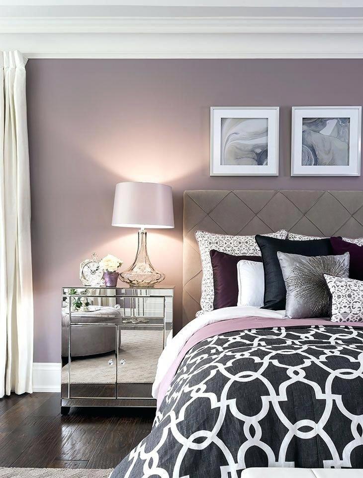 Schlafzimmer Wandfarbe Ideen #wandgestaltung #beige #lila