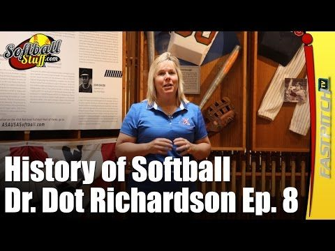 Welcome to part 8 in my series on the History of Softball with Dr. Dot Richardson. On this episode Dot takes us on a tour of the Softball History Museum in OKC. She shares her memories and experiences of softball through all her years playing the sport. Dot honors the Class of 2015 Hall of Fame inductees. And leads us through the Hall of Fame circle and into the Team USA room remembering her Olympic Days. Sponsored by http://SoftballJunk.com/