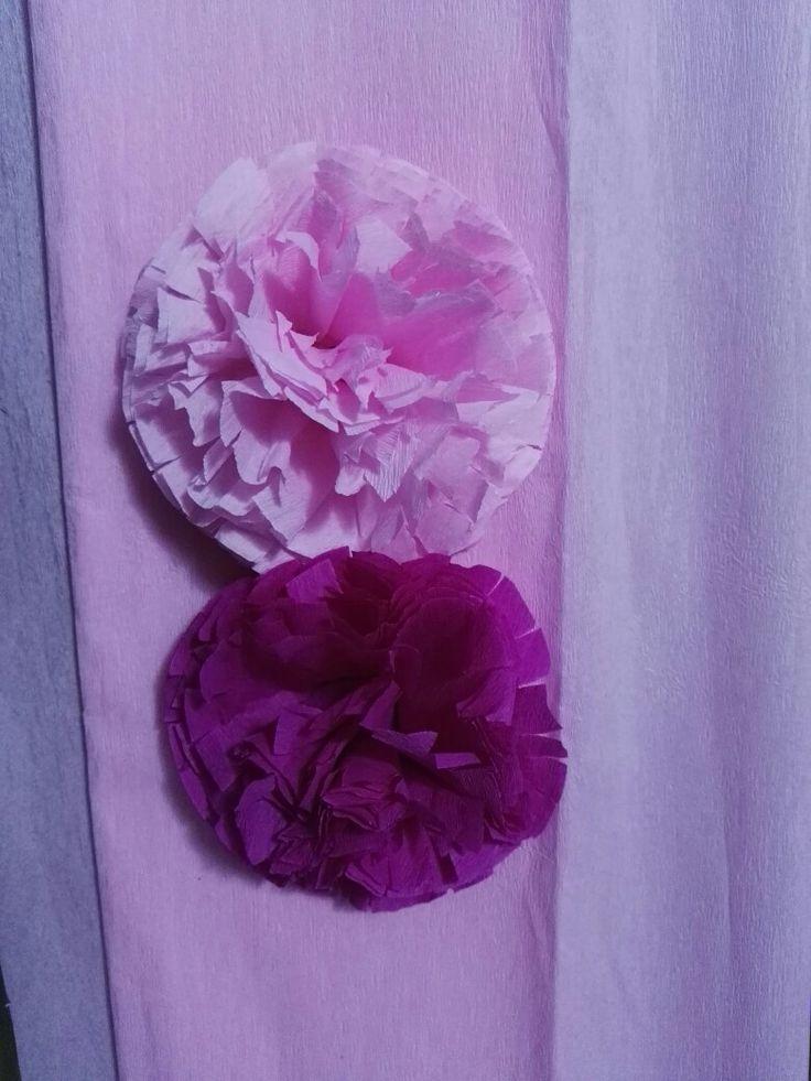 Flores en papel crepe