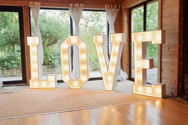Love Letters, thewordislove, the word is love, light up letters for hire, north west supplier.