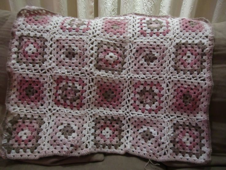 baby blanket made by me, granny square