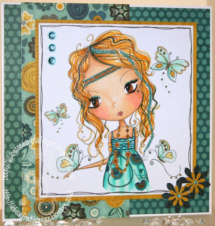 Freckles Place: All Dressed Up - Favourite Colours All Dressed Up digi stamp
