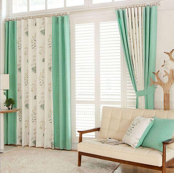 Зеленый шторы цветок современный штор для гостиной на заказ шторы плотные шторы и тюль шторы для гостиных занавески в гостиную ШТОРЫ ДЛЯ ДОМА  тюли и шторы