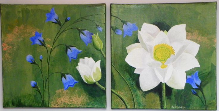 Acrilic painting lesson  with http://carlasonheim.com/acrylics-painting-flowers-with-fred-lisaius/