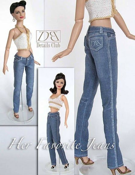 Free Copy of Pattern - Her Favorite Jeans - be sure to click on Page 5 for rest of pattern pieces.
