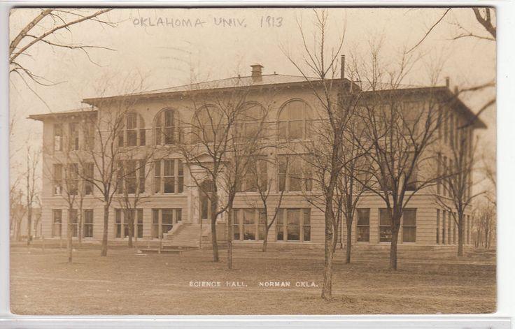 Victorian Foyer University : Rppc norman ok science hall at university of oklahoma