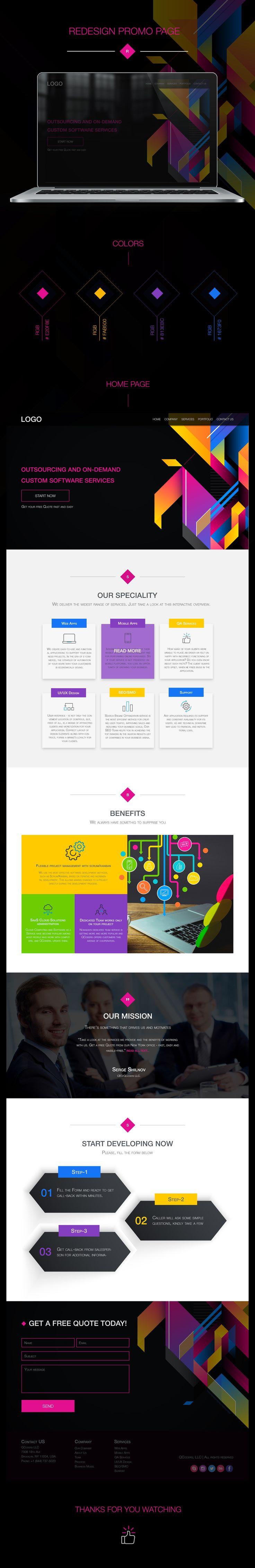Ознакомьтесь с моим проектом в @Behance: «Redesign Promo Page» https://www.behance.net/gallery/44078021/Redesign-Promo-Page