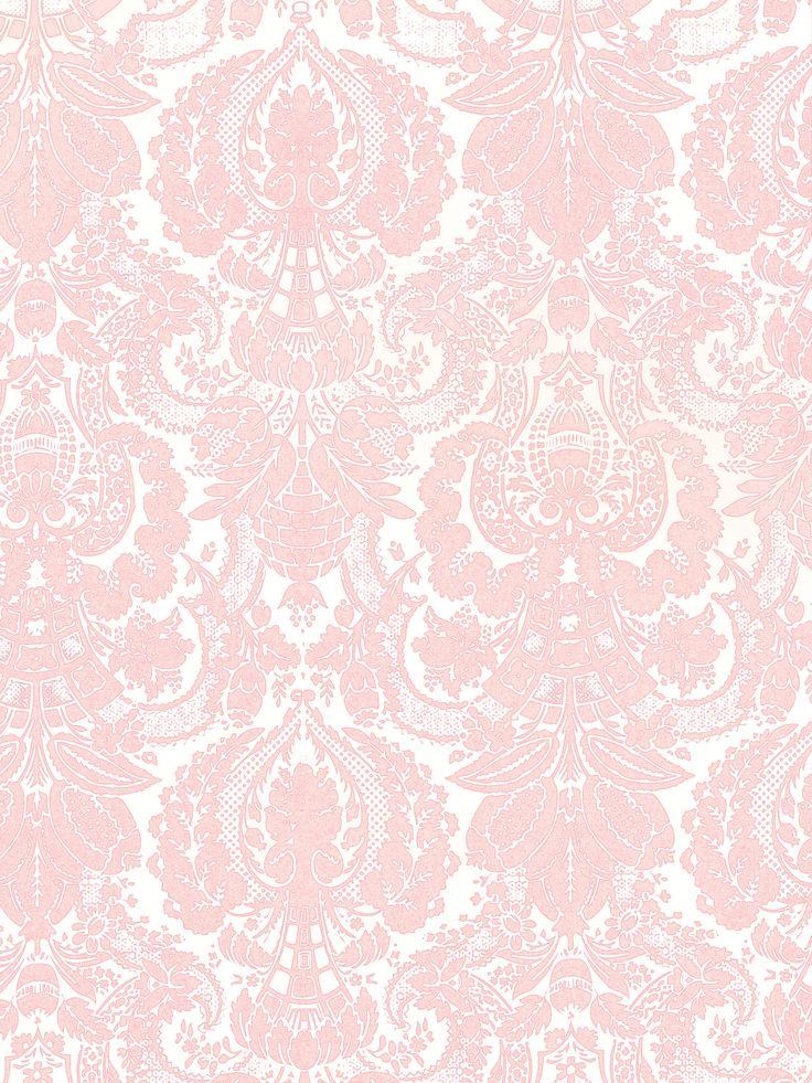 Baby Girl Nursery Pink Wallpaper Pink Damask Background Park Ave Princess Pink Damask