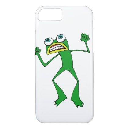 Funny Frog: Angry Frog iPhone 8/7 Case  $33.50  by BuyAGreetingCard  - cyo diy customize personalize unique