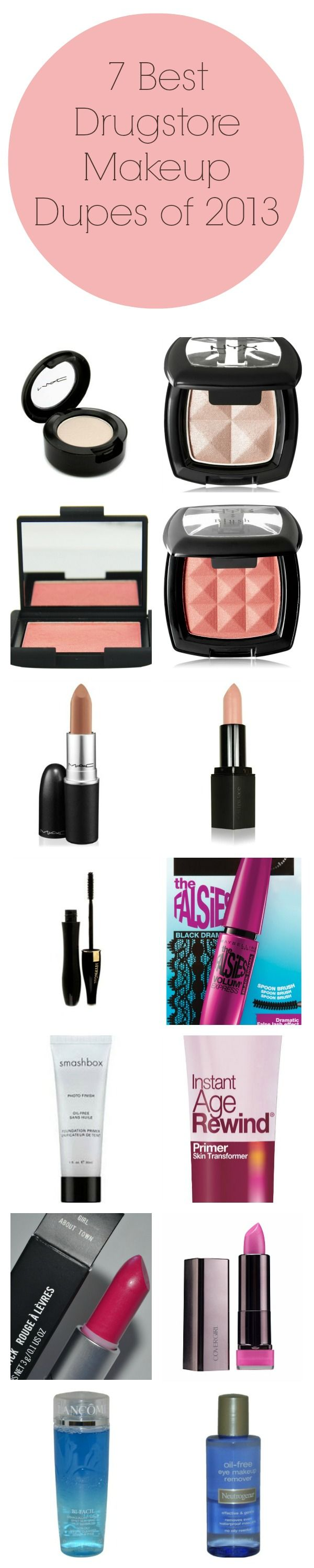7 Best Drugstore Makeup Dupes of 2013, I do own the majority of these and can say they are all very close ! -Alison