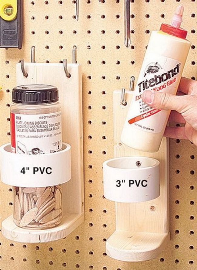 Pvc pipe for craft holders garage design pinterest for Pvc pipe crafts
