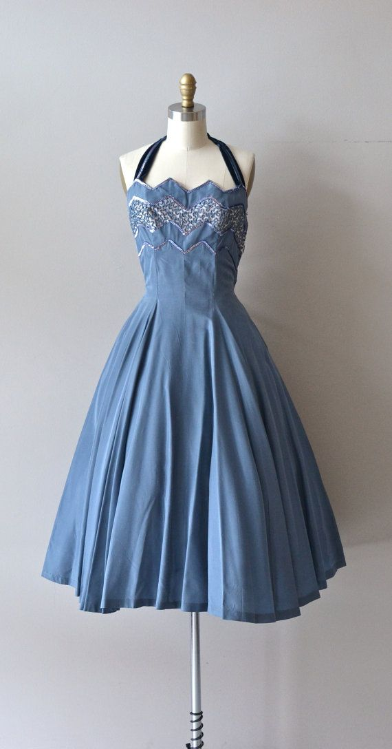 Estrella halter dress • 1950s party dress • vintage 50s dress