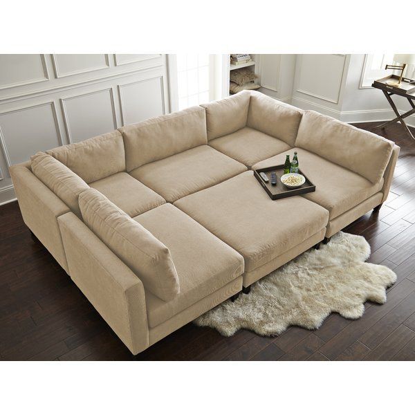 Chelsea 120 Symmetrical U Shaped Component Sectional Pit Sofa Living Room Designs Sectional Sofa