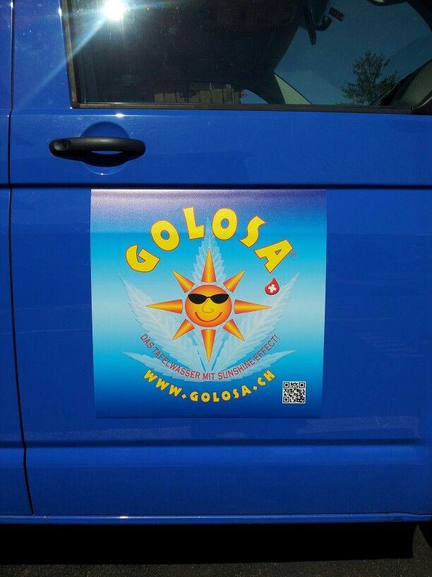 So sieht unsere neue Werbung am Golosa-Mobil aus.