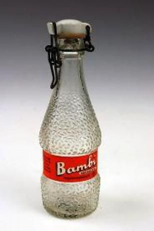"Vintage bottle for the soft drink ""Bambi"" Csatos üveges Bambi"