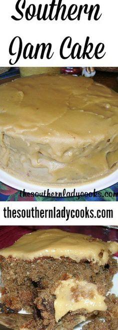 Southern Jam Cake - uses Smuckers Blackberry jam
