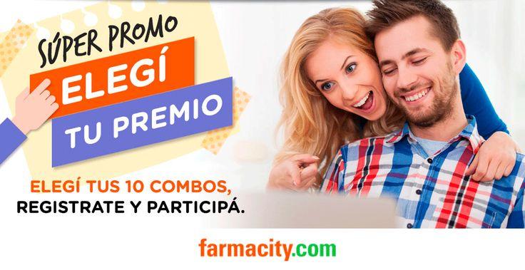 Farmacity.com - Elegí tu premio - Participá por 10 súper combos. Completá tus datos y participá.
