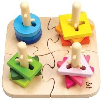 Hape - Wooden Creative Peg Puzzle