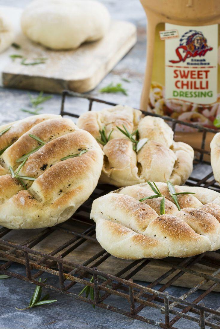 Baked bread on an open fire!