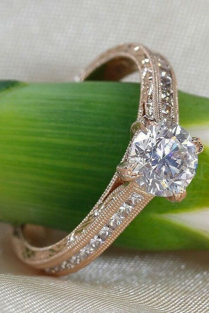 27 Simple Engagement Rings For Girls Who Loves Classics ❤️ See more: http://www.weddingforward.com/simple-engagement-rings/ #wedding