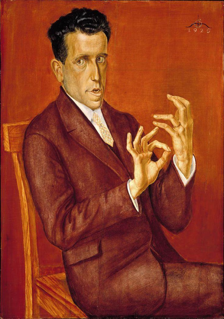 Otto Dix, Portrait de l'avocat Hugo Simons, Musée des beaux-arts de Montréal   Art international ancien et moderne