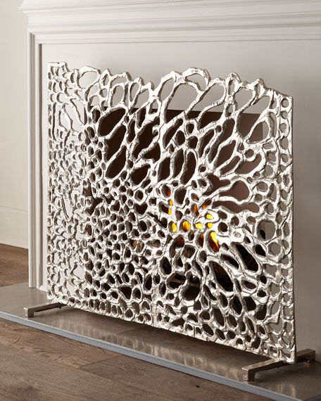 Organic Nickel Fireplace Screen - 17 Best Images About Fireplace Screens On Pinterest Shop Home