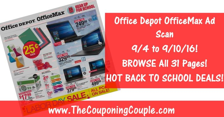Office Depot Officemax Ad Scan For  To   Office Depot