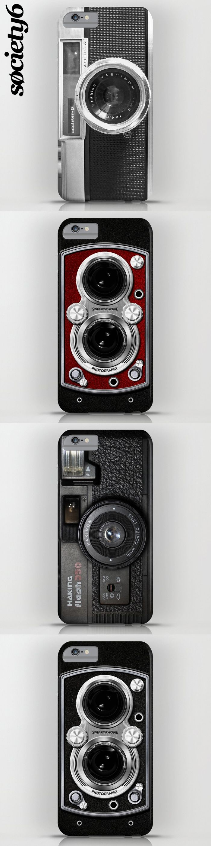 A collection of cool, retro camera cases for iPhone and Samsung #iphonecase #iphone #samsung #case #retro #vintage #camera