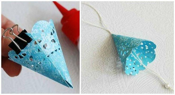 Ngeles de papel para decorar en navidad angeles and - Manualidades para decorar en navidad ...
