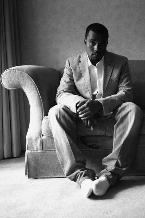Kanye West in socks
