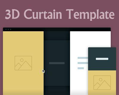 3d curtain template
