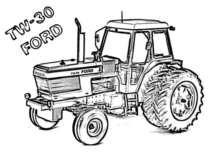 17 best tracteur images on Pinterest | Tractors, Tractor coloring ...