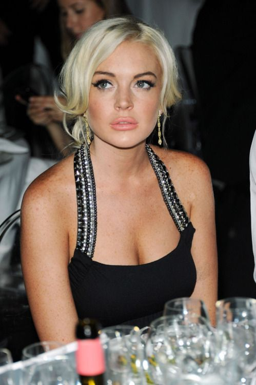 Lindsay Lohan at the amfAR Milan Fashion Week
