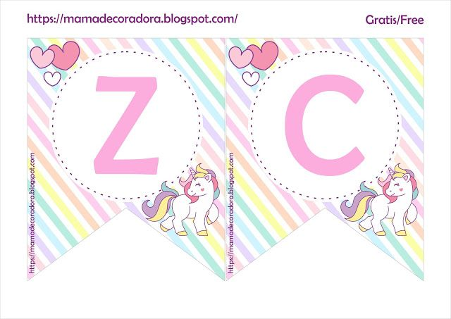 Mama Decoradora Unicornio Kit Imprimible Unicornio Gratis