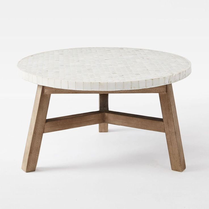 Mosaic Coffee Table - White Marble