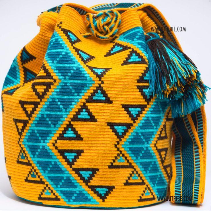 One of A Kind Wayuu Mochila Bag - Single Woven Thread, Quick Ship Anywhere, and International! $249.00 #wayuubags www.wayuutribe.com