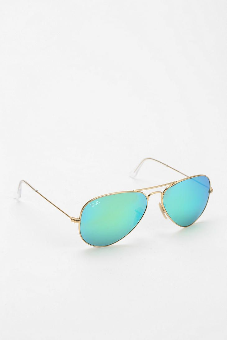 rayban shades 6gjn  Ray-Ban Mirrored Aviator Sunglasses