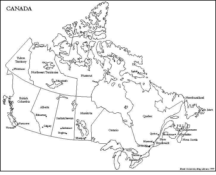 Canada: Provinces and Territories - Map Quiz Game