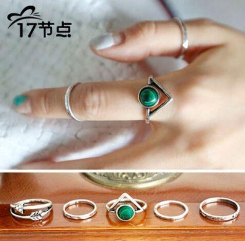 Купить Корейский простой треугольник ретро пять частей сочетание перо кольцо бесплатная доставка m2203и другие товары категории Кольцав магазине Baylin jessie's storeнаAliExpress. перо шаль и перо жилет