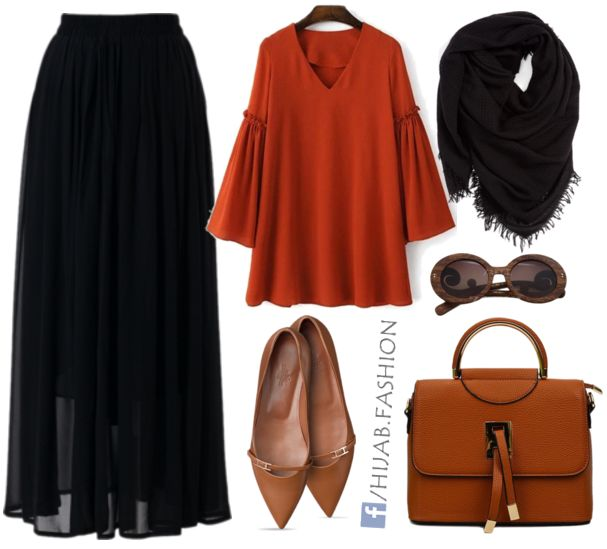 Black & Orange Outfit Idea