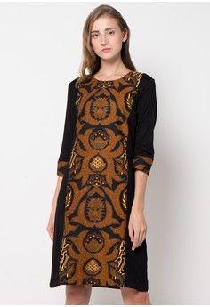 Megawati Dress from bhatara batik in black