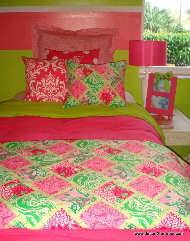 preppy dorm room bedding set custom lilly pulitzer lilly