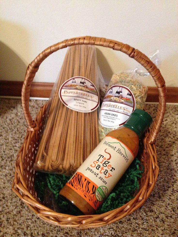 Asian Basket - Spicy Thai Linguine, Asian Orzo and Tiger Satay sauce - $37 as shown