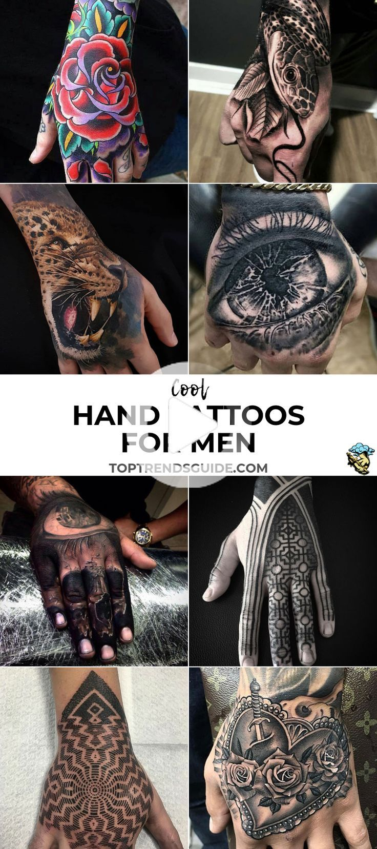 Cool Hand Tattoos For Men Best Hand Tattoo Ideas Badass Hand Tattoo Designs For Guys Simple Top Back In 2020 Hand Tattoos For Guys Hand Tattoos Tattoos For Guys