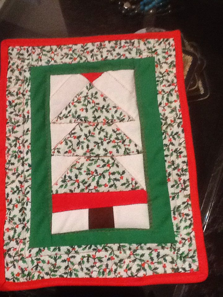 Christmas quilt placemat
