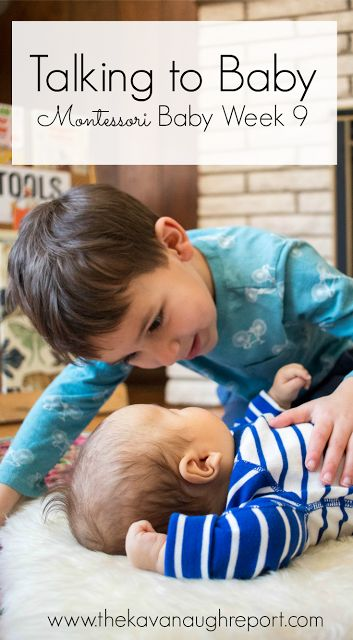 Talking to Baby -- Montessori Baby Week 9. Thoughts on how to speak to your baby and develop language skills.
