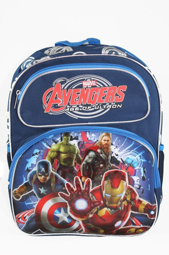 "Marvel AVENGERS 2 Movie AGE OF ULTRON Medium Backpack Bag Tote 14"" NEW Kids  #Marvel #Backpack"